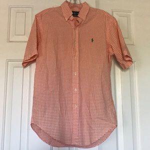 Orange and White Ralph Lauren Button Down